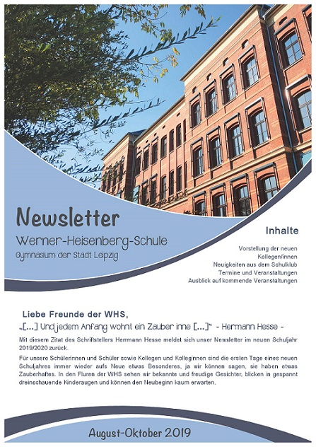 Newsletter Aug Okt